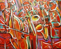 RED HOT Jazz - copyright Karen Sloan