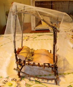 Fairy bed with canopy - Karen Sloan - Wall Flower Studio