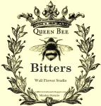 Queen Bee Bitters LOGO Wall Flower Studio