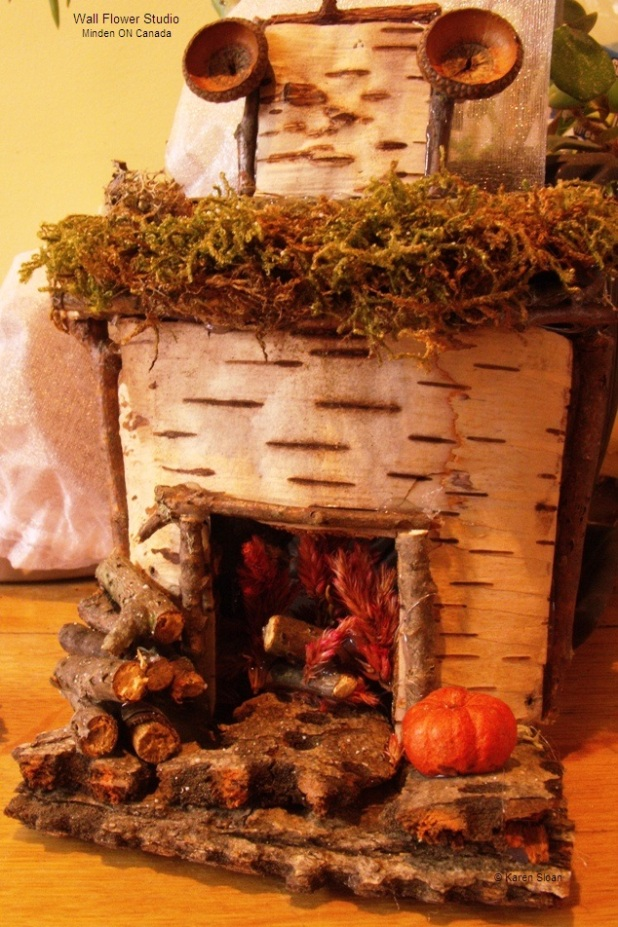 Fairy garden fireplace