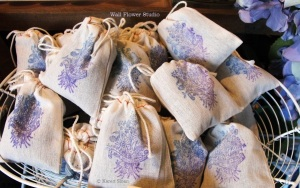 Lavender Dryer Sachets at Wall Flower Studio