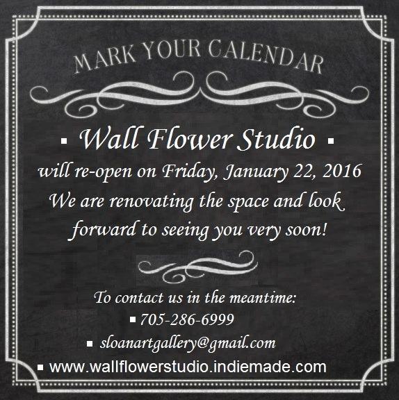 Wall Flower Studio - renovating and January re-opening date