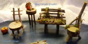 Fairy Furniture Garden Bench Items Faerie Pixie Loudhazecom