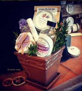 lavender themed gift basket at WFS